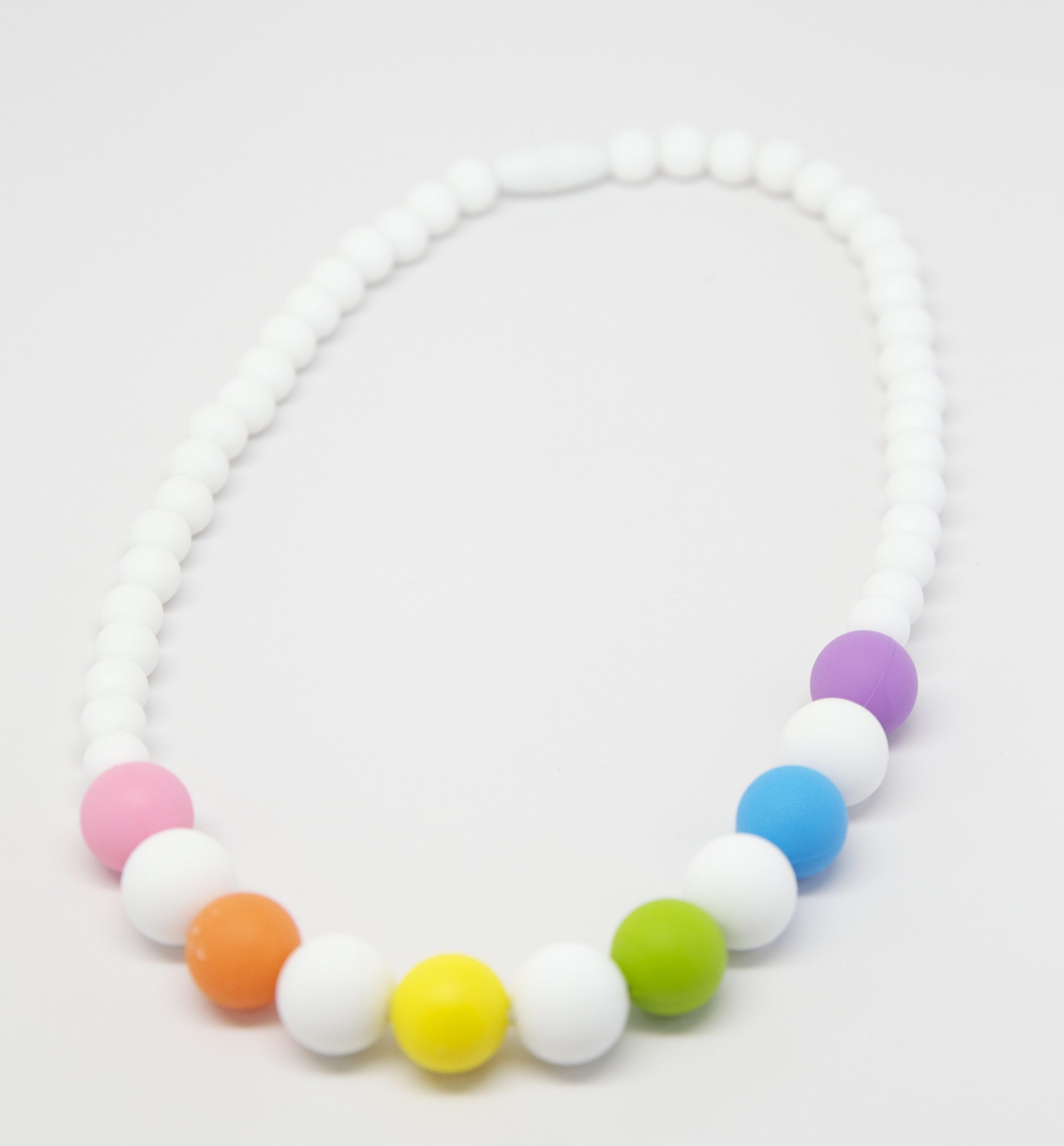 Make up to 5 necklaces Pink Rainbow Silicone Deluxe Necklace Kit Food Grade Silicone Beads DIY Silicone Teething Necklace Kit